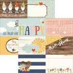 "Simple Stories - Bloom & Grow - Double-Sided Elements Cardstock 12""X12"" - 4""X6"" Horizontal Journaling Cards"