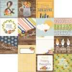 "Simple Stories - Bloom & Grow - Double-Sided Elements Cardstock 12""X12"" - 4""X4"" & 4""X6"" Vertical Journaling Cards"