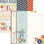 "Simple Stories - Bloom & Grow - Double-Sided Elements Cardstock 12""X12"" - 2""X12"", 4""X12"" & 6""X12"""