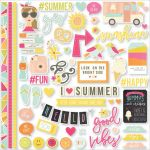 "Simple Stories - Sunshine & Happiness - Cardstock Stickers 12""X12"" - Fundamentals"