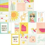 "Simple Stories - Sunshine & Happiness - Double-Sided Elements Cardstock 12""X12"" - 3""X4"" Journaling Cards"