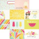 "Simple Stories - Sunshine & Happiness - Double-Sided Elements Cardstock 12""X12"" - 4""X6"" Horizontal Journaling Cards"