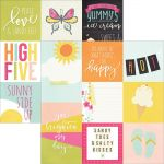 "Simple Stories - Sunshine & Happiness - Double-Sided Elements Cardstock 12""X12"" - 4""X4"" & 4""X6"" Vertical Journaling Cards"