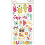 "Simple Stories - Sunshine & Happiness - Chipboard Stickers 6""X12"""
