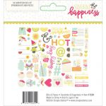 Simple Stories - Sunshine & Happiness - Bits & Pieces Cardstock Die-Cuts 66/Pkg - Ephemera