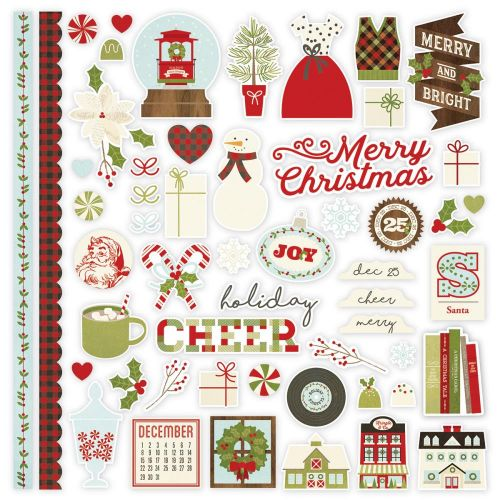 "Simple Stories - Classic Christmas - Cardstock Stickers 12""X12"" - Fundamentals"