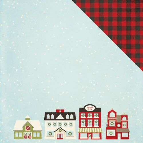 "Simple Stories - Classic Christmas - Double-Sided Cardstock 12""X12"" - City Sidewalks"
