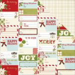 "Simple Stories - Classic Christmas - Foiled Double-Sided Cardstock 12""X12"" - Holiday Wishes"