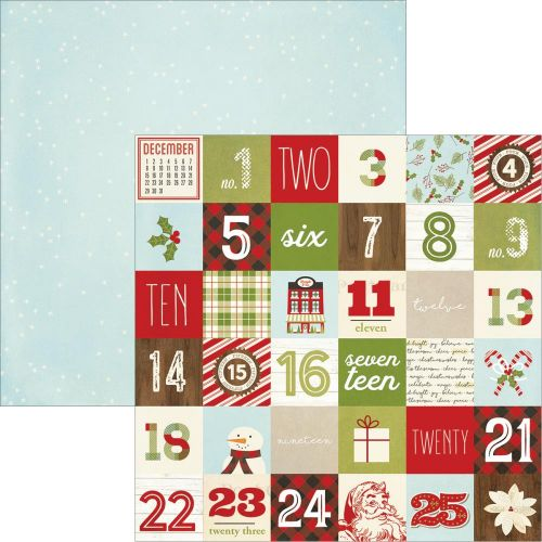 "Simple Stories - Classic Christmas - Double-Sided Elements Cardstock 12""X12"" - 2x2 Elements"