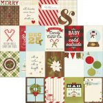 "Simple Stories - Classic Christmas - Foil Double-Sided Elements Cardstock 12x12 - 3""X4"" Journaling Cards"