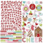 "Simple Stories - Mistletoe Kisses Cardstock Stickers 12""X12"" Combo"