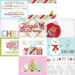 "Simple Stories - Mistletoe Kisses Foil Double-Sided Elements Cardstock 12""X12 - 4""X6"" Horizontal Journaling Cards"