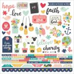 "Simple Stories - Faith - Cardstock Stickers 12""X12"" - Combo"