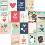 "Simple Stories - Faith - Double-Sided Elements Cardstock 12""X12"" - 3""X4"" Journaling Cards"