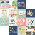 "Simple Stories - Faith - Double-Sided Elements Cardstock 12""X12"" - 4""X4"" Journaling Cards"