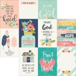 "Simple Stories - Faith - Double-Sided Elements Cardstock 12""X12"" - 4""X6"" Vertical Journaling Cards"