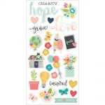 "Simple Stories - Faith - Chipboard Stickers 6""X12"""