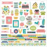 "Simple Stories - Domestic Bliss - Cardstock Stickers 12""X12"" - Combo"
