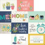 "Simple Stories - Domestic Bliss - Double-Sided Elements Cardstock 12""X12"" - 4""X6"" Horizontal Journaling Cards"