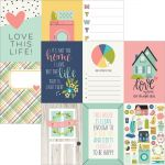 "Simple Stories - Domestic Bliss - Double-Sided Elements Cardstock 12""X12"" - 4""X6"" Vertical Journaling Cards"