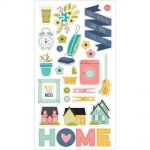"Simple Stories - Domestic Bliss - Chipboard Stickers 6""X12"""