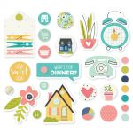 Simple Stories - Domestic Bliss - Metal Brads & Tags 27/Pkg