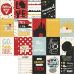 "Simple Stories - Say Cheese III - Double-Sided Elements Cardstock 12""X12"" - 3""X4"" Journaling Cards"