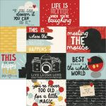 "Simple Stories - Say Cheese III - Double-Sided Elements Cardstock 12""X12"" - 4""X6"" Horizontal Journaling Cards"