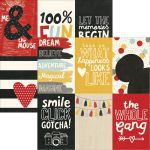 "Simple Stories - Say Cheese III - Double-Sided Elements Cardstock 12""X12"" - 4""X6"" Vertical Journaling Cards"