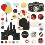 Simple Stories - Say Cheese III - Metal Brads & Tags 33/Pkg