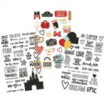 "Simple Stories - Say Cheese III - Clear Stickers 4""X6"" 3/Pkg - (1) Color & (2) Black"