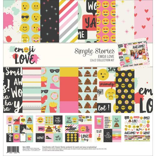 "Simple Stories - Emoji Love - Collection Kit 12""X12"""