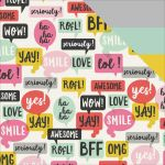 "Simple Stories - Emoji Love - Double-Sided Cardstock 12""X12"" - 2Cool"
