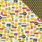 "Simple Stories - Emoji Love - Double-Sided Cardstock 12""X12"" - LOL"