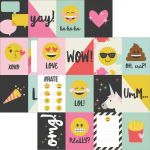 "Simple Stories - Emoji Love - Double-Sided Elements Cardstock 12""X12"" - 3""X4"" Journaling Cards"