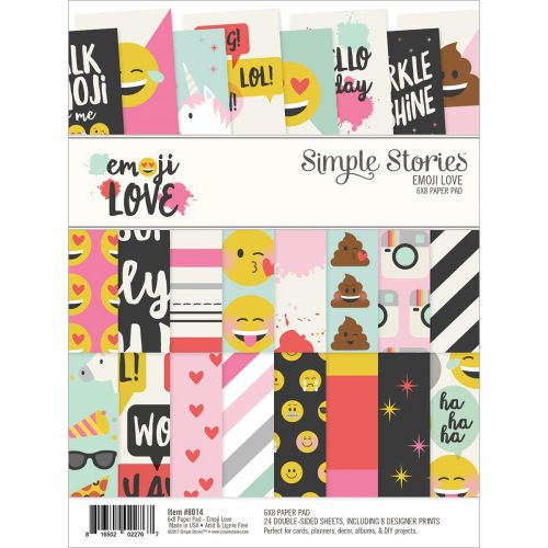 "Simple Stories - Emoji Love - Double-Sided Paper Pad 6""X8"" 24/Pkg"