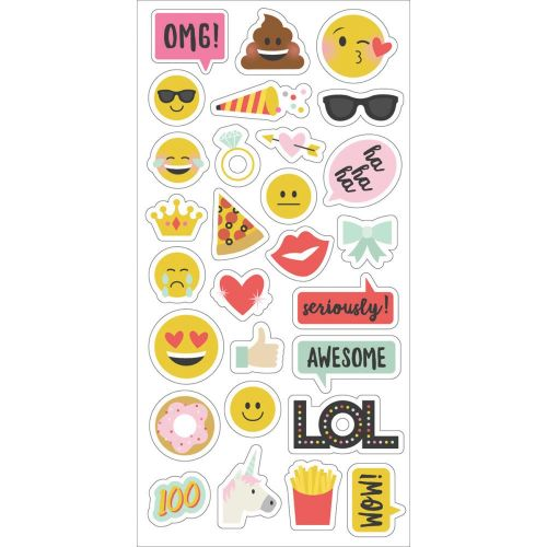 "Simple Stories - Emoji Love - Chipboard Stickers 6""X12"""