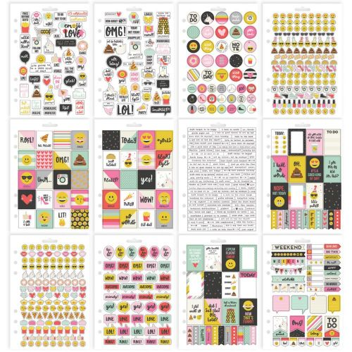 Simple Stories - Emoji Love - Stickers A5 12/Pkg