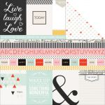 Teresa Collins Designs - Something Wonderful - Cards 12 x 12 Double Sided Patterned Paper