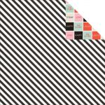 Teresa Collins Designs - Something Wonderful - Black Stripes 12 x 12 Double Sided Patterned Paper