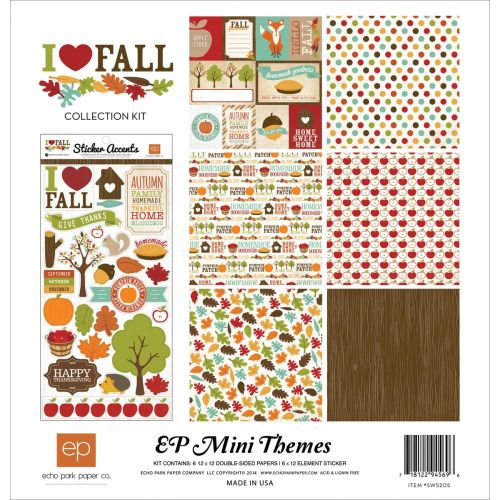 Echo Park Paper Company - Mini Theme - I Love Fall Collection - Collection Kit