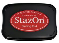 Tsukineko - Staz On - Blazing Red - Solvent Ink Pad