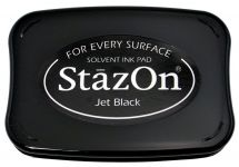 Tsukineko - Staz On - Jet Black - Solvent Ink Pad