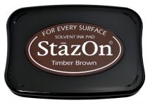 Tsukineko - Staz On - Timber Brown - Solvent Ink Pad