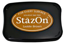 Tsukineko - Staz On - Saddle Brown - Solvent Ink Pad