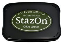 Tsukineko - Staz On - Olive Green - Solvent Ink Pad