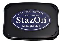Tsukineko - StazOn - Midnight Blue - Solvent Ink Pad