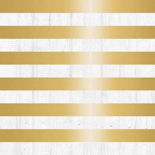 Teresa Collins Designs - Tinsel & Company Stripes Foiled Paper