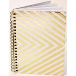 "Teresa Collins Designs - Studio Gold - Notebook 5""X7"" - 80 Lined Pages"
