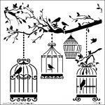 The Crafters Workshop - 12 x 12 Template - Birds Of A Feather